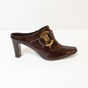 """Nickels Clog Heels Brown Size 7 3"""""""